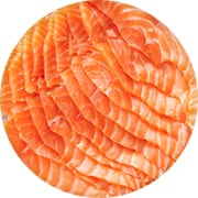 Sliced and Stacked Salmon